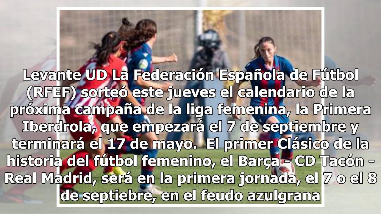 Liga Iberdrola Calendario.Calendario 2019 2020 De La Liga Femenina Primera Iberdrola En Pdf Fechas De Partidos Y Jornadas