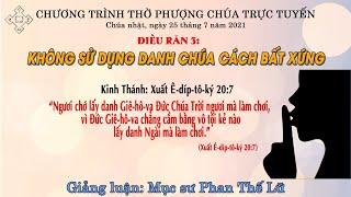 HTTL BẾN TRE - Chương trình thờ phượng Chúa - 25/07/2021