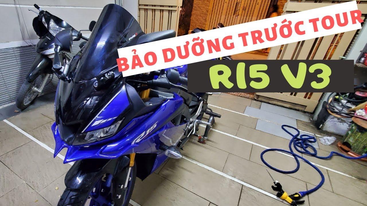 Bảo dưỡng R15V3 trước Tour để có Tour ảnh đẹp – Home Motorcycle Workshop #10   Bạn Hoàn Vlog