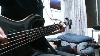 La'cryma ChristiのLettersのベースを弾きました ベースの音が小さいの...