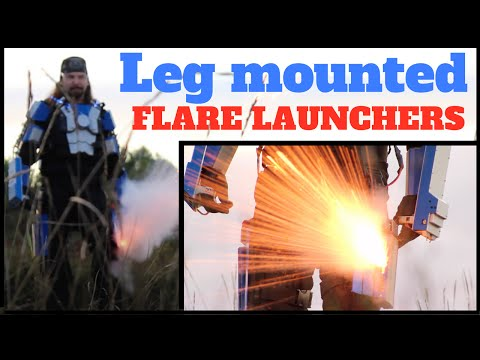 How to build Leg Fireball Flare Launchers diy and Weaponized Armor