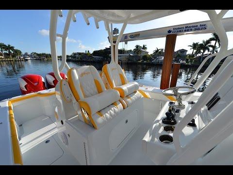 Liquid Sunset 36' Yellowfin Yacht w/ Seven Marine 557 deck walk around