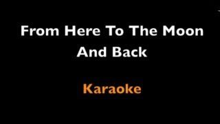 From here to the moon and back - karaoke - Dolly Parton - lyrics - instrumental