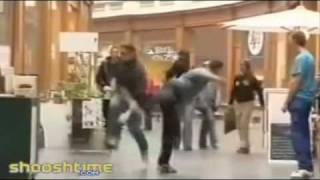 Kicked in the face at mall