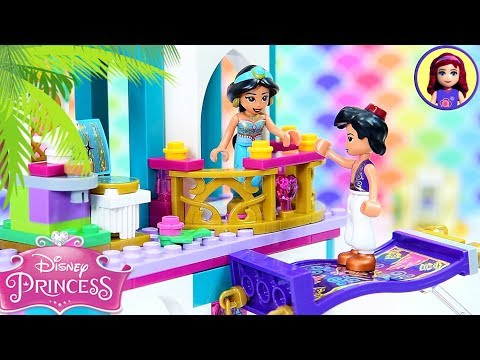 Jasmine & Aladdin's Palace Adventures - Lego Disney Princess Build & Silly Play Kids Toys Review