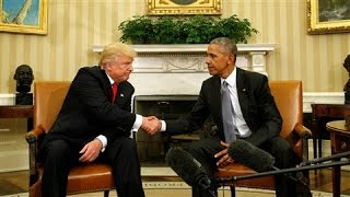 Donald Trump, Barack Obama Appear at White House Together