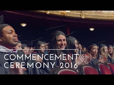 The American University of Paris 2016 Graduation Ceremony
