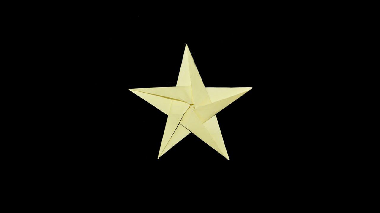 Como hacer una estrella de papel facil origami youtube - Origami de una estrella ...