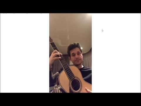 John Mayer -  Still Feel Like Your Man (1st time live performance) Instagram Live February 25, 2017