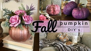 Fall Dollar Tree DIY / Four Pumpkin DIY's
