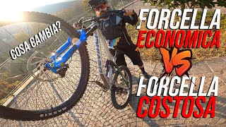 FORCELLA MTB ECONOMICA VS COSTOSA // COSA CAMBIA?