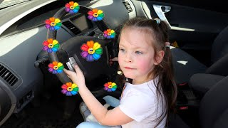 We are in the Car Wheels On The Bus Song Nursery Rhymes by KybiBybi