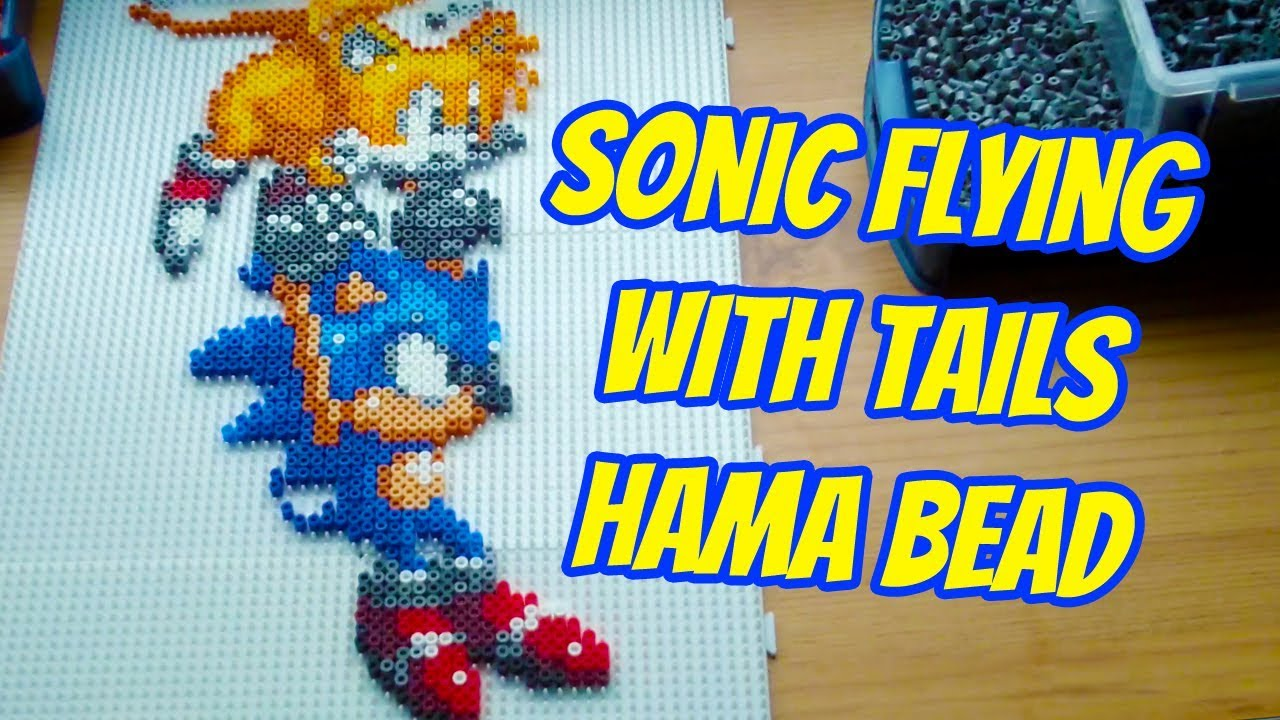 Sonic Flying With Tails Hama Bead Design Dogtor Crafts Youtube