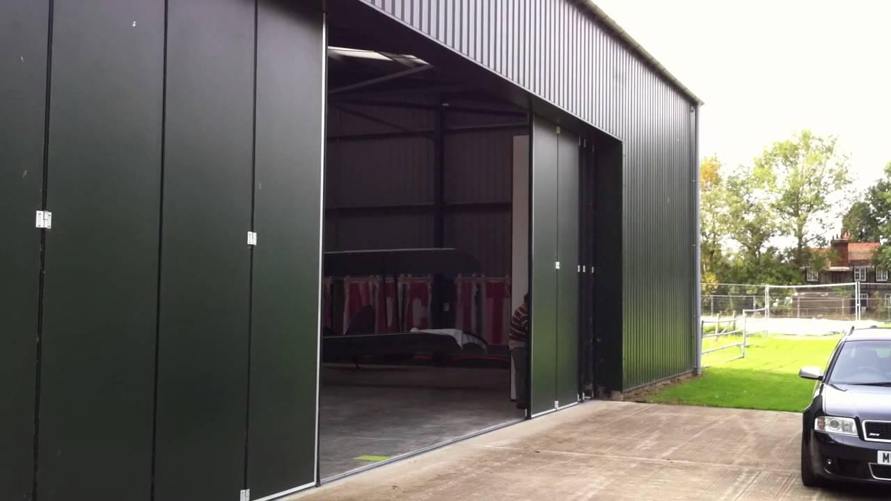 Osprey Manually Operated Hangar Doors Youtube