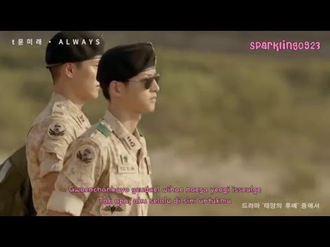 [INDO SUB] T Yoon Mirae - Always [Descendants Of The Sun OST]