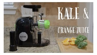 Download lagu Juicing Kale and Oranges in the Aicok Juicer