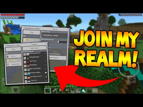 JOIN MY MCPE REALM!! - Minecraft Pocket Edition 0.15.0 Realms JOIN MY REALM TODAY!! (MCPE)