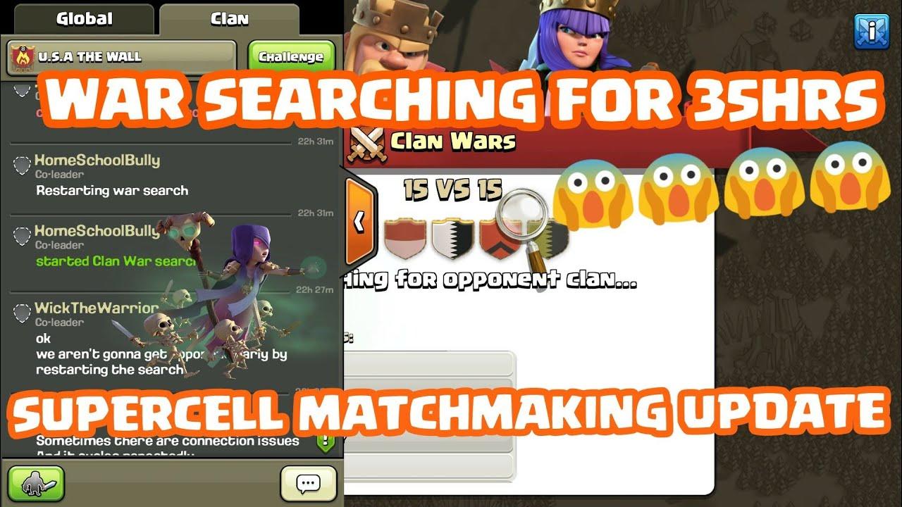 COC matchmaking algoritme