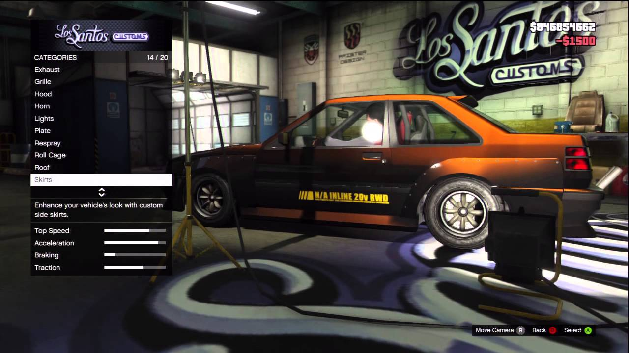 Gta V Drifting Car Customization Futo Youtube