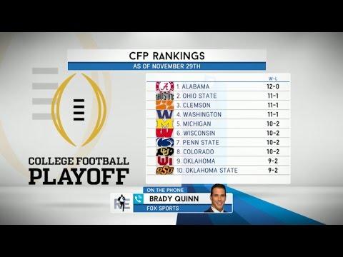 FOX College Football Analyst Brady Quinn Talks CFB Playoffs & More - 12/2/16