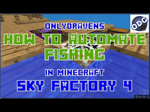 Minecraft - Sky Factory 4 - How To Automate Fishing Using An Automated Fishing Net
