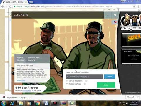 How To Install Gta San Andreas Cheat Menu Mod