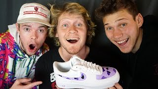 ONE HOUR CUSTOM AIR FORCE 1 CHALLENGE!