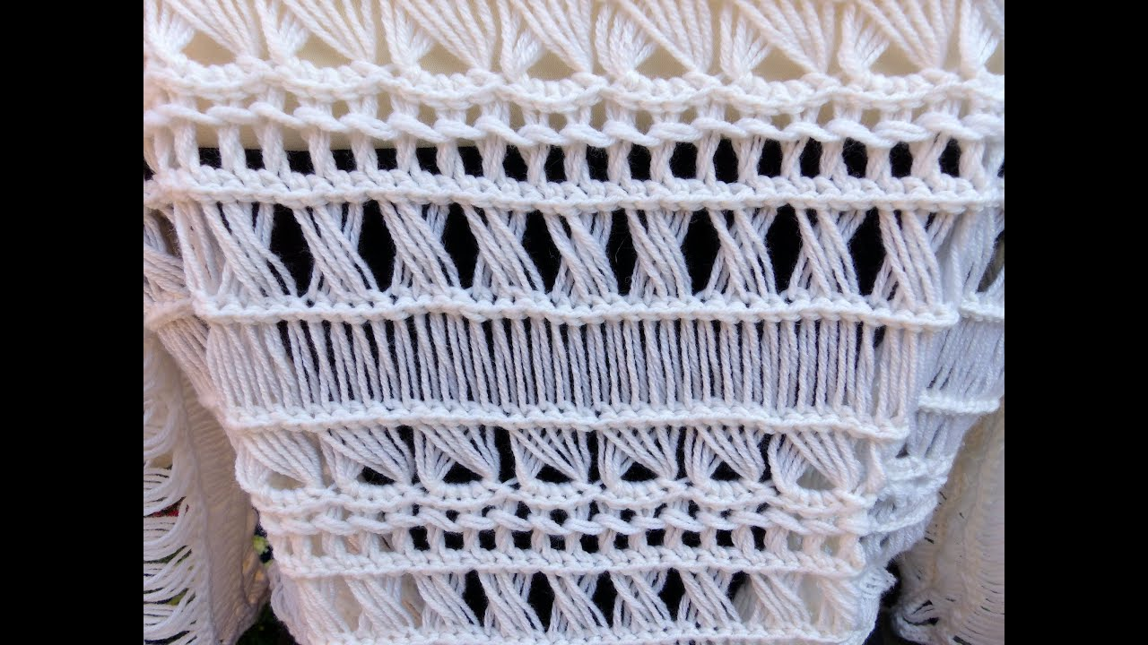 Broomstick Lace Variations 2 Striaght Youtube