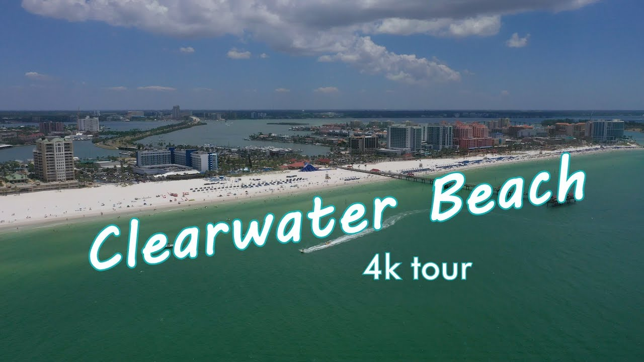 Aerial Tour of Clearwater Beach in 4k