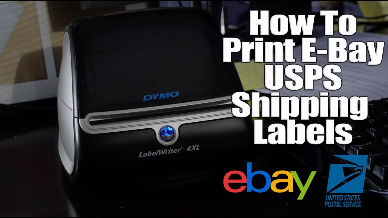 How to use the Dymo LabelWriter 4XL with E Bay Checkout