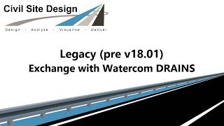 **Superseded** Pipes -  Exchange with Watercom DRAINS (Pre v18.01)