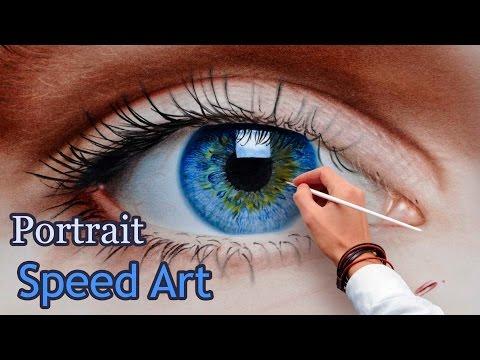 Auge malen in Öl Trockenpinseltechnik / Portraitmalerei Pabst