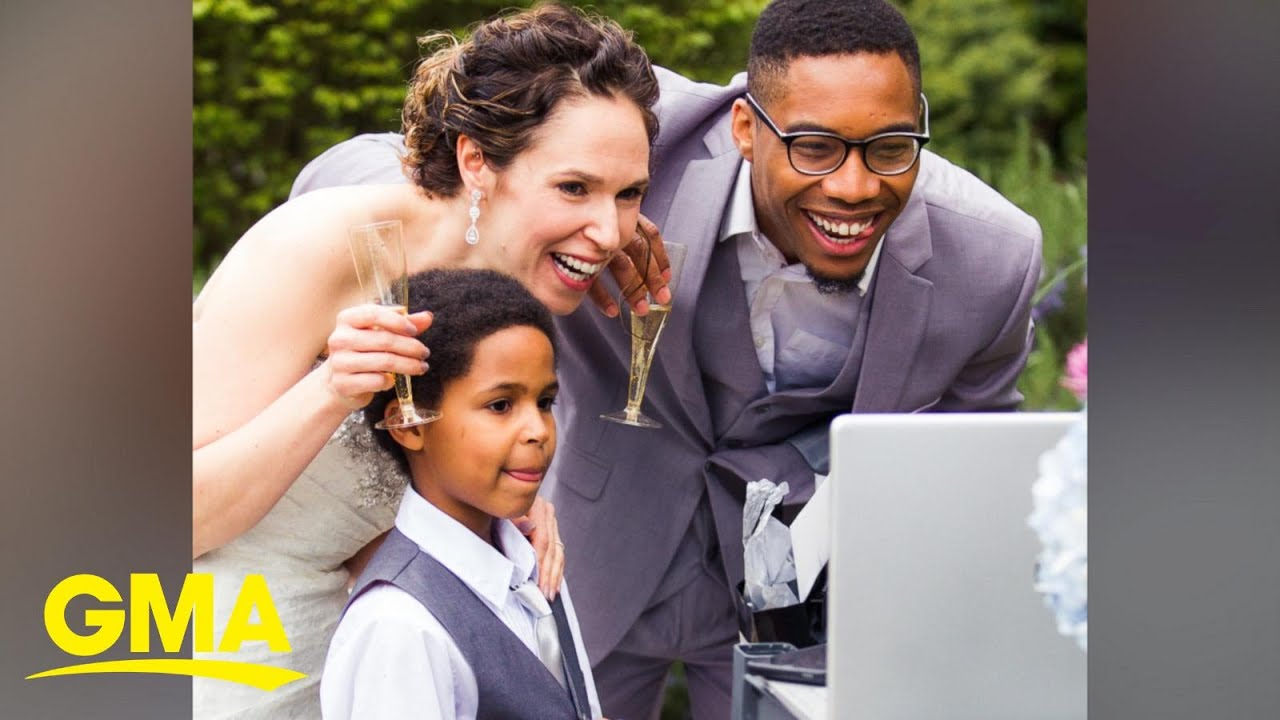 Couple Goes Through With Zoom Wedding For 120 Virtual Guests L Gma Digital Youtube - Wedding Zoom, A Zoom Wedding With A Salute To Sweden The New York Times