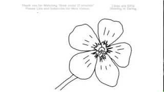 How to Draw a Phlox Flower Under 2 Minutes | YZArts | YZArts