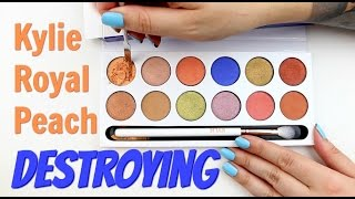 THE MAKEUP BREAKUP - Destroying & weighing the Kylie Cosmetic Royal Peach Palette