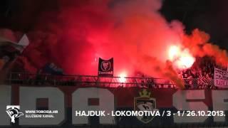 Torcida Split / Hajduk Split - NK Lokomotiva 3:1 (14. Kolo MAXtv Prva Liga)