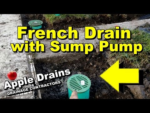 French Drain & Sump Pump Move Water Fast