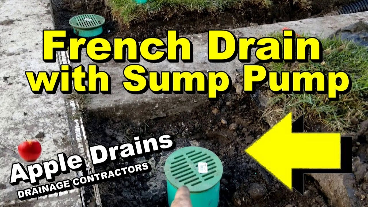 French Drain Sump Pump Move Water Fast Youtube