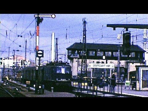 Kopfbahnhof Stuttgart 1974 - Altbau E 17, E 18, E 44, ET 65