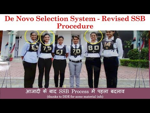 3 Days New SSB Procedure for Defence Forces (Denovo SSB) in Hindi, Changes to Old SSB(SOURCE : DDE )