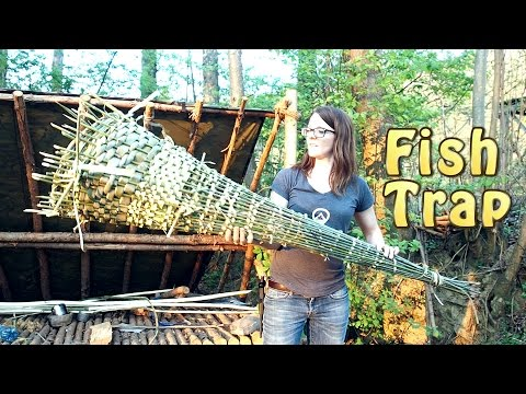 How To Make A Fish Trap - Fast Weaving Method