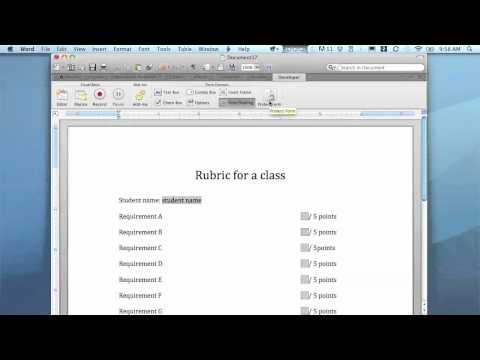 Create your own Word template (Mac 2011)