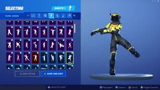 *UPDATED* Fortnite Hazard Agent Yellow Skin Outfit Showcase with All Dances & Emotes