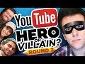 Drawing YOUTUBERS as HEROES & VILLAINS - ROUND 3!