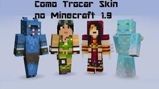 Como mudar Skin no Minecraft 1.9 no Multiplayer