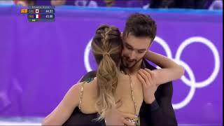 موقف محرج لراقصة فرنسية على الجليد- اولمبياد 2018