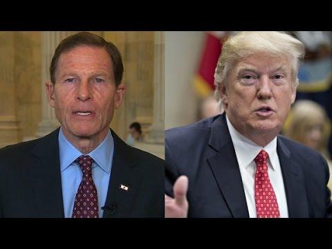 Senator responds to Trump attack