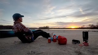 Solo Kayak Camping On The Kansas River...A 20 mile Yakpacking Adventure
