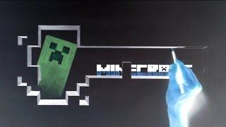 3D Creeper Minecraft - Negative Drawing 4K ULTRA HD Denis Kovačić DK