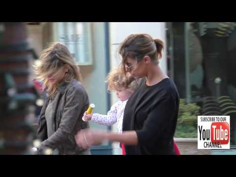 Elisabetta Canalis shopping at The Grove in Hollywood
